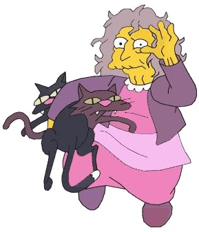 Cat Lady Simpsons